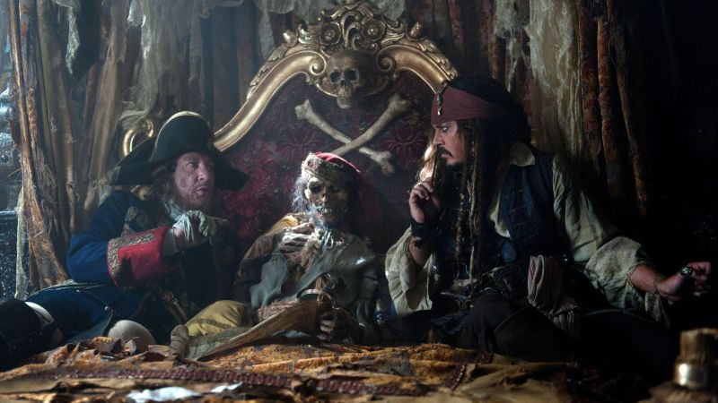 Pirates of the Caribbean: Dead Men Tell No Tales, 4k, 8k, Johnny Depp (horizontal)