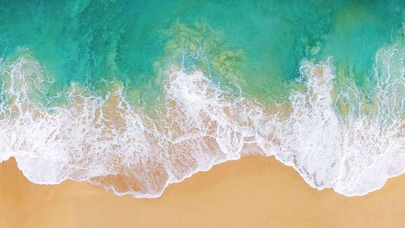 iOS 11, 4k, 5k, beach, ocean (horizontal)