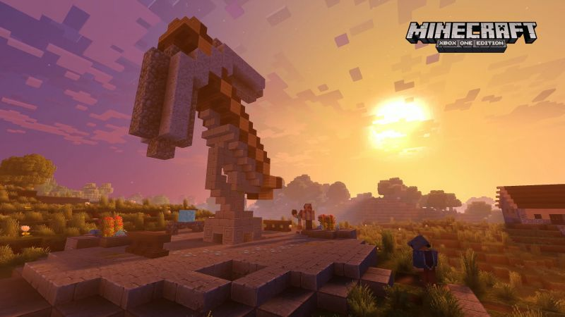Minecraft 4k edition, E3 2017, xBox One X, screenshot (horizontal)