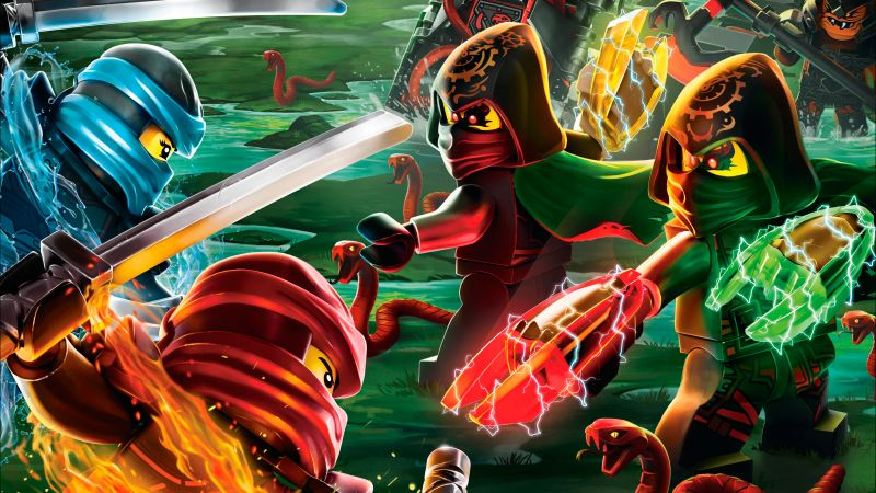 LEGO Ninjago, 5k, best animation movies (horizontal)