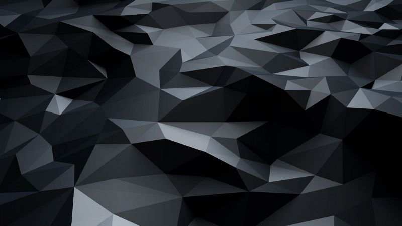 polygons, abstract, 4k (horizontal)