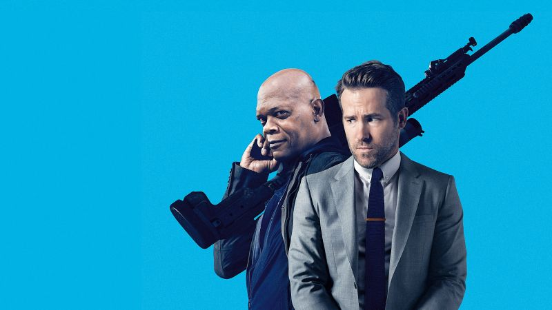 The Hitman's Bodyguard, Samuel L. Jackson, Ryan Reynolds, 4k (horizontal)