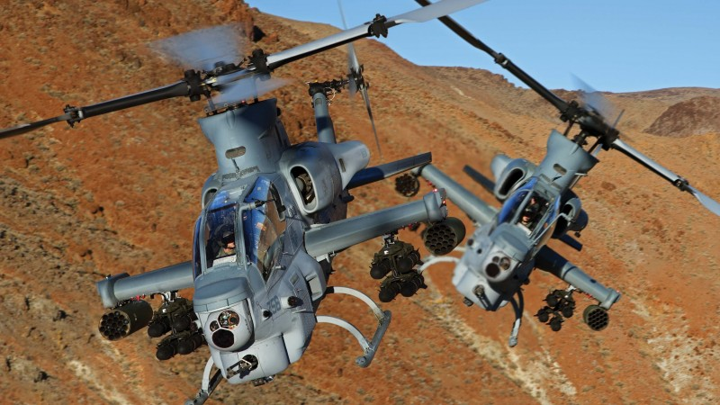 Viper, AH-1Z, Bell, attack helicopter, U. S. Marine, Zulu Cobra, flight, mountain