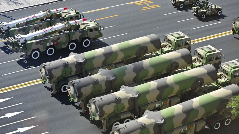 DF-21, missile, DF-21, parade, Dong-Feng, MRBM, People's Liberation Army, China, weapon (horizontal)