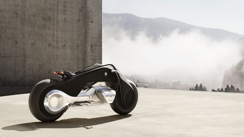 BMW Motorrad vision next 100, motorcycles of future, 4k (horizontal)