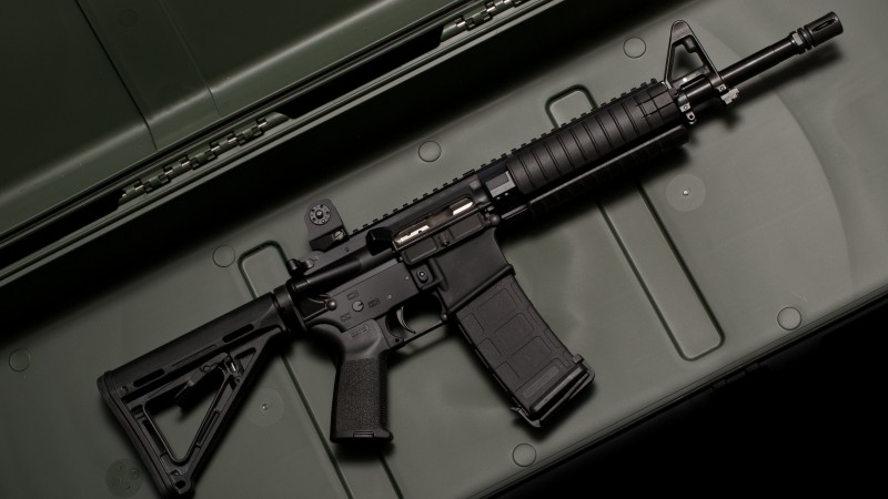 M6, LWRC, carbine, weapon, assault rifle, case (horizontal)