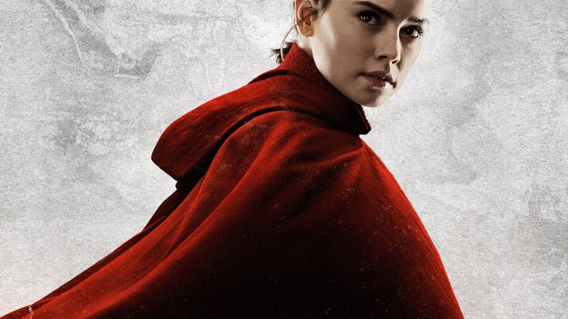 Star Wars: The Last Jedi, Daisy Ridley, 8k (horizontal)