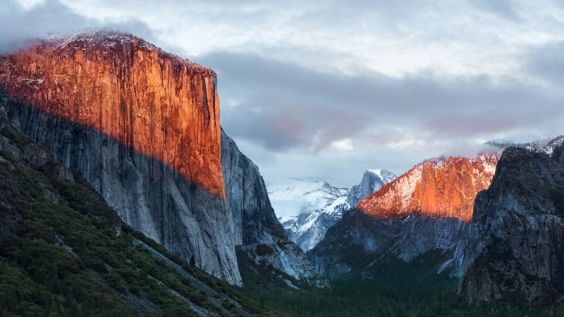 El Capitan, mountain, Yosemite, National Park, California, 5k (horizontal)
