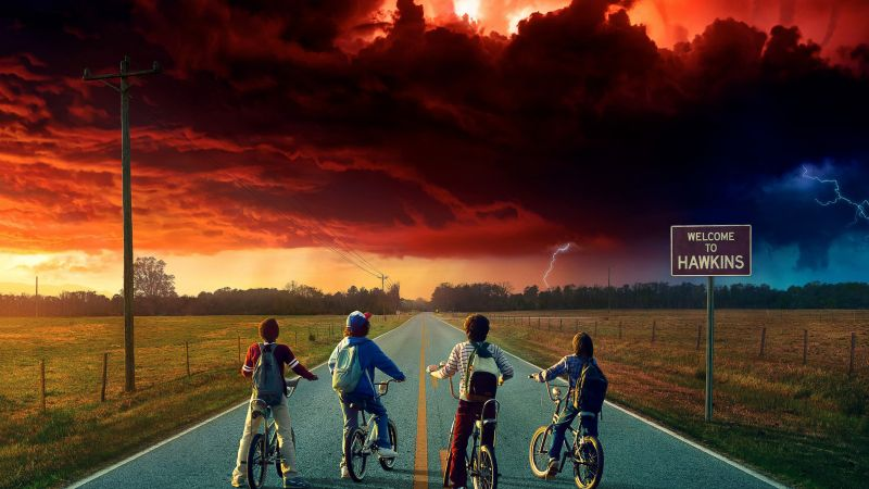 Stranger Things, season 2, TV Series, Finn Wolfhard, Gaten Matarazzo, 4k (horizontal)