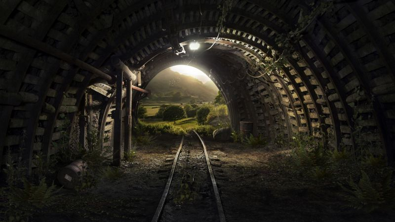 tunnel, nature, 4k (horizontal)