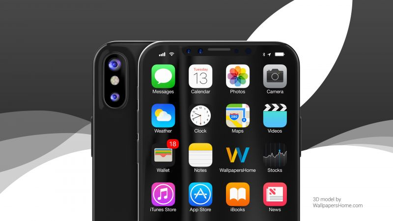 iPhone X, black, WWDC 2017, 4k (horizontal)
