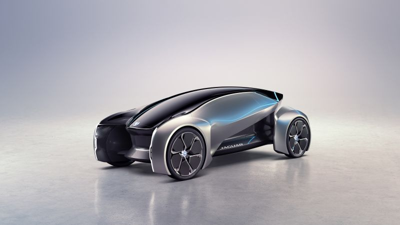 Jaguar Future-Type, electric car, 4k (horizontal)