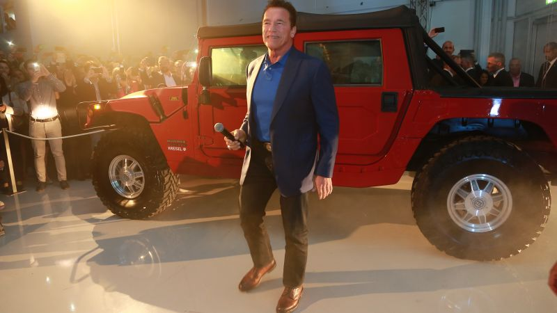 Hummer H1, Arnold Schwarzenegger, electric car, 4k (horizontal)