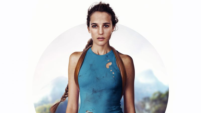Lara Croft, Tomb Raider, Alicia Vikander, 4k (horizontal)