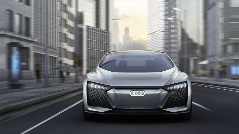 Audi Aicon, electric car, 4k (horizontal)