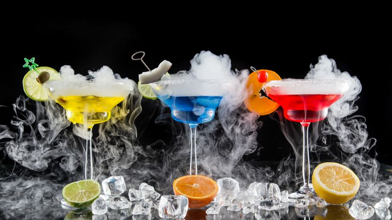 cocktail, fruit, ice, 4k (horizontal)