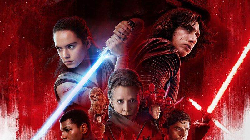 Star Wars: The Last Jedi, Daisy Ridley, Carrie Fisher, Adam Driver, poster, 4k (horizontal)
