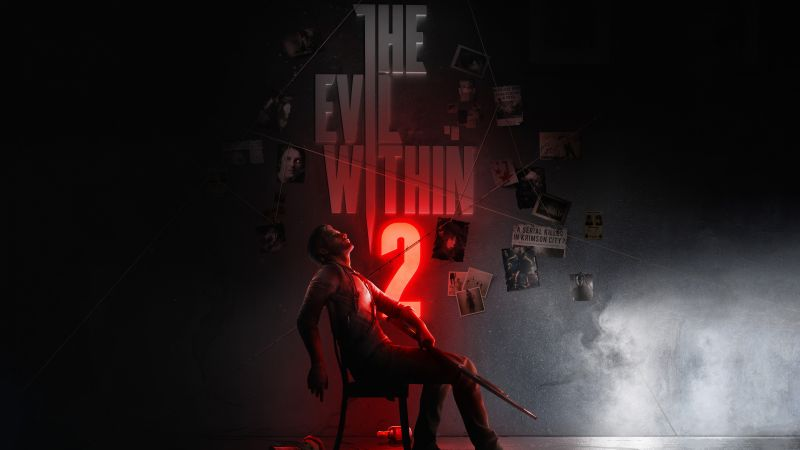 The Evil Within 2, poster, E3 2017, 8k (horizontal)