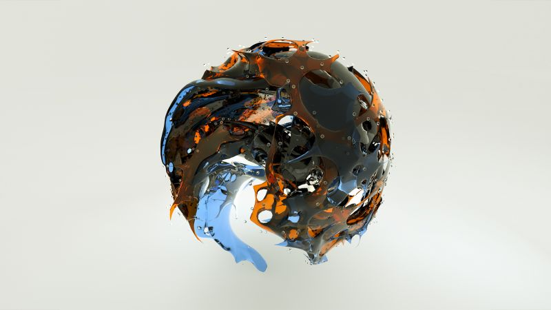 sphere, 3D, glass, HD (horizontal)