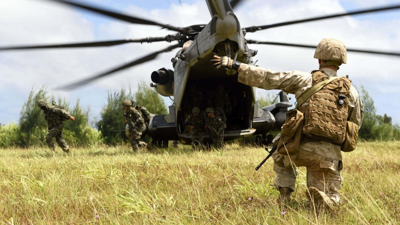 soldier, landing, troops, helicopter, landing force