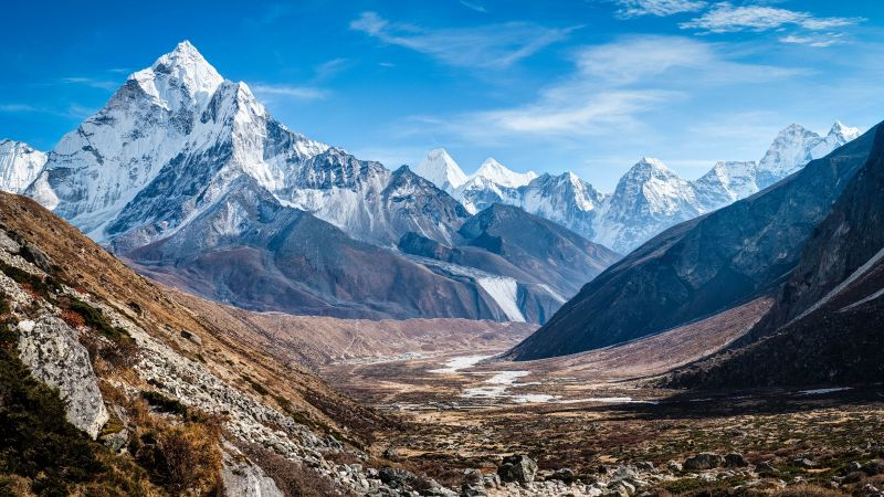 Ama Dablam, Nepal, mountains, 4k (horizontal)