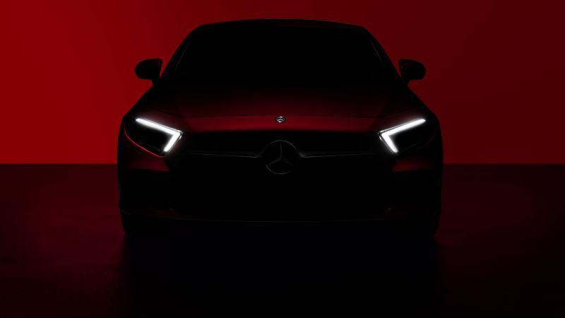 Mercedes-Benz CLS, 2018 Cars, red, 5k (horizontal)