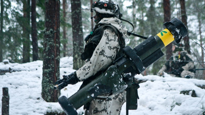 army, soldier, Finnish Defence Forces, rocket launcher, winter, snow, camo