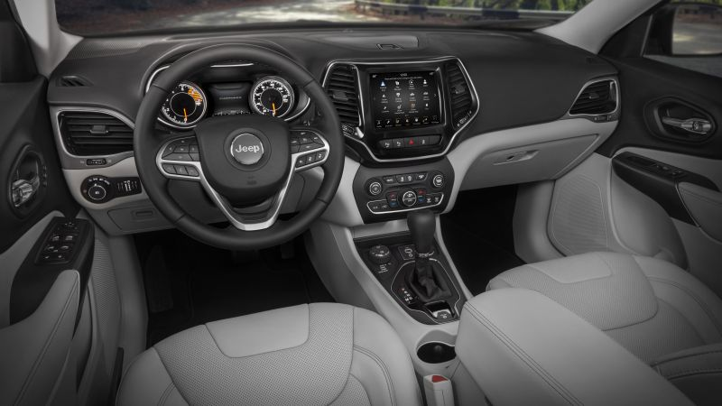 Jeep Cherokee, 2018 Cars, interior. 8k (horizontal)