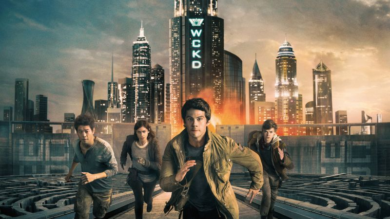 Maze Runner: The Death Cure, Dylan O'Brien, Thomas Brodie-Sangster, Kaya Scodelario, 4k (horizontal)