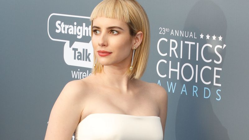Emma Roberts, photo, Critics' Choice Awards 2018, 4k (horizontal)