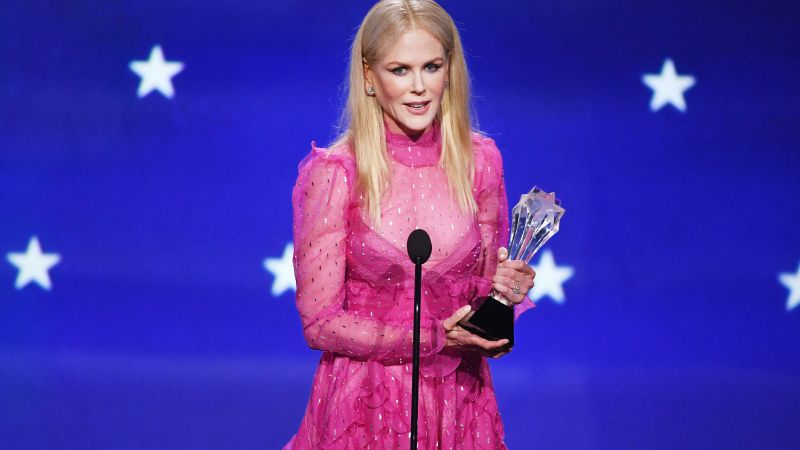 Nicole Kidman, dress, Critics' Choice Awards 2018, 4k (horizontal)