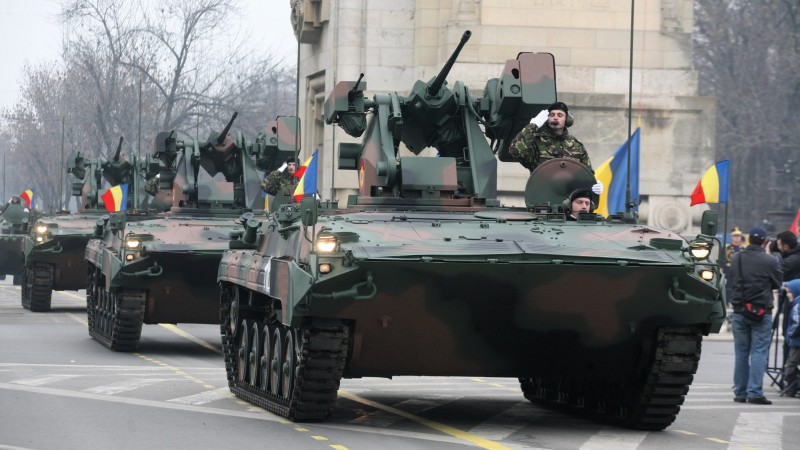 MLI-84, IFV, MLI-84M, infantry fighting vehicle, MICV, Romanian Armed Forces, parade (horizontal)