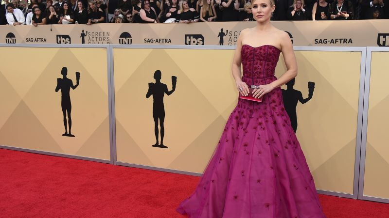 Kristen Bell, dress, Screen Actors Guild Awards 2018, 4k (horizontal)