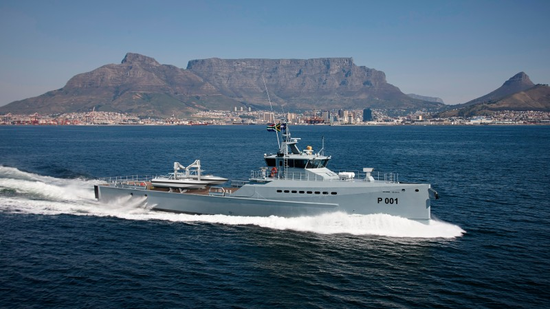 Damen, FCS 5009, patrol vessel, DSCT, South Africa, high-speed, South African Navy (horizontal)
