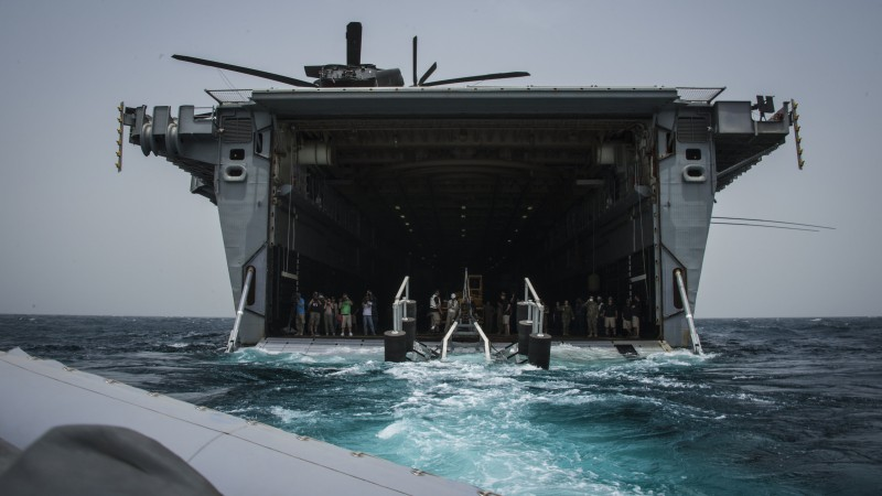 USS Ponce, USS Ponce, LPD-15, Austin-class, amphibious transport dock, U.S. Navy, rescue mission