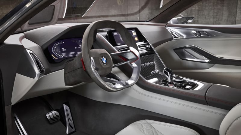 BMW 8 Series, Cars 2018, interior, 4k (horizontal)