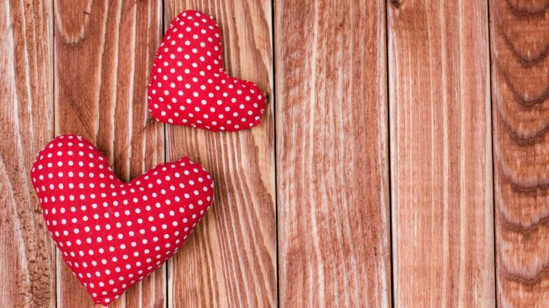 Valentine's Day, love image, heart, 4k (horizontal)