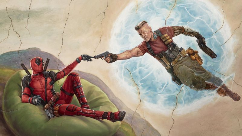 Deadpool 2, Ryan Reynolds, Josh Brolin, HD (horizontal)