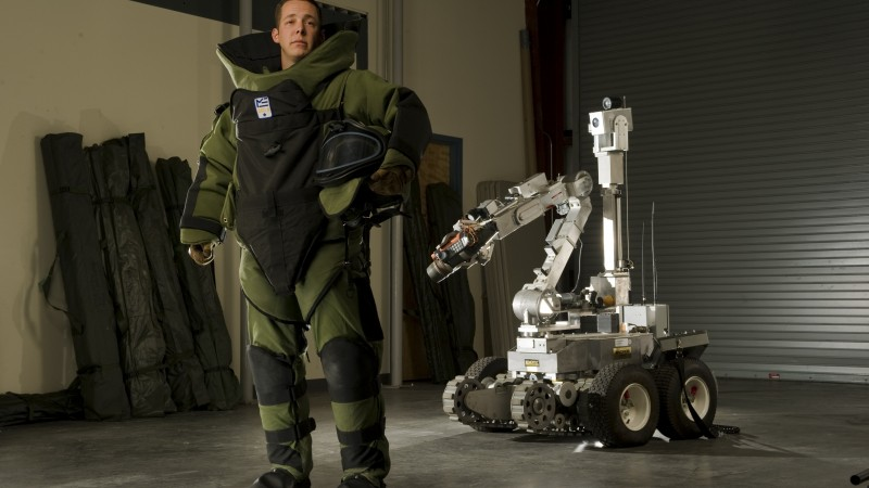 sapper, combat engineer, Sapper Tab, robot, combat support, photo art, Stacy Pearsall (horizontal)
