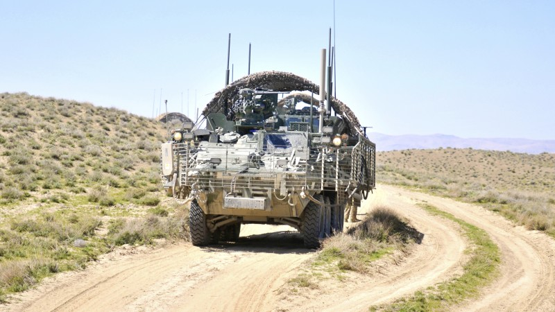 IAV Stryker, M1126, ICV, armored fighting vehicles, U.S. Army, desert