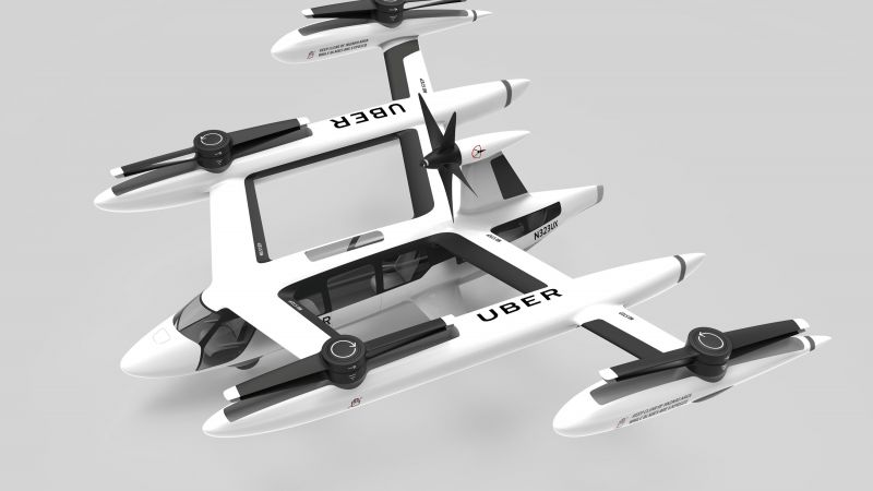 Uber flying taxi, Uber Elevate Summit, 4K (horizontal)