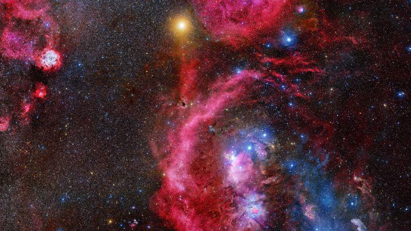 Galaxy Stars Orion 4K Horizontal
