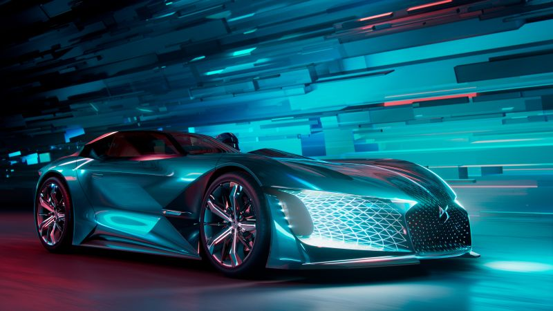 DS E-Tense Concept, electric car, 4K (horizontal)