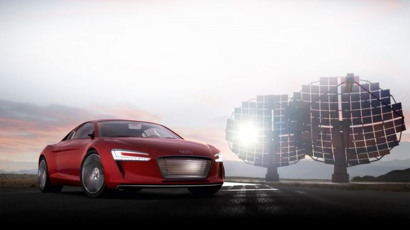 Audi E-Tron Concept, electric car, 4K (horizontal)