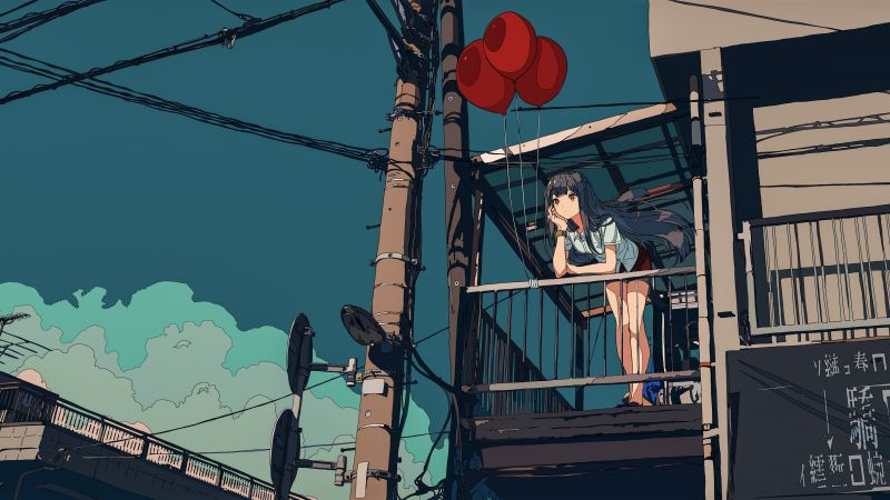 Pubg Air Drop Anime Art 8k Hd Games 4k Wallpapers: Wallpaper Balloon, 5k, 4k Wallpaper, Ride, Blue, Sky
