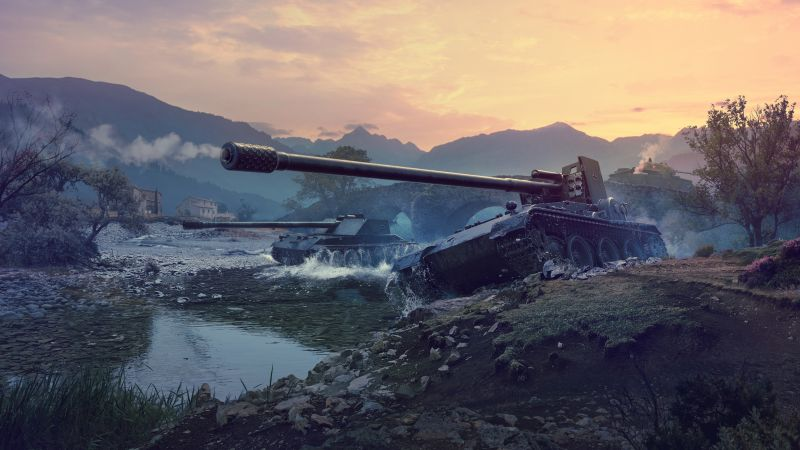River, World of Tanks 1.0.2, 4K (horizontal)