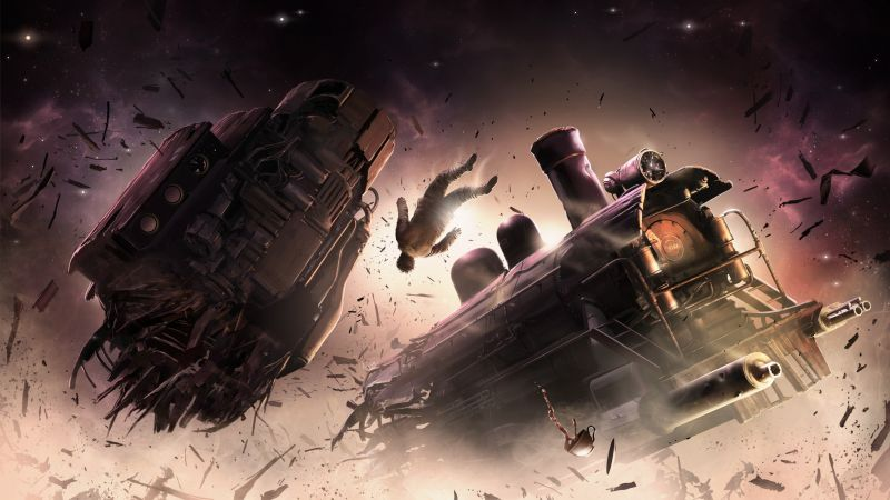Sunless Skies, train, human, 4K (horizontal)