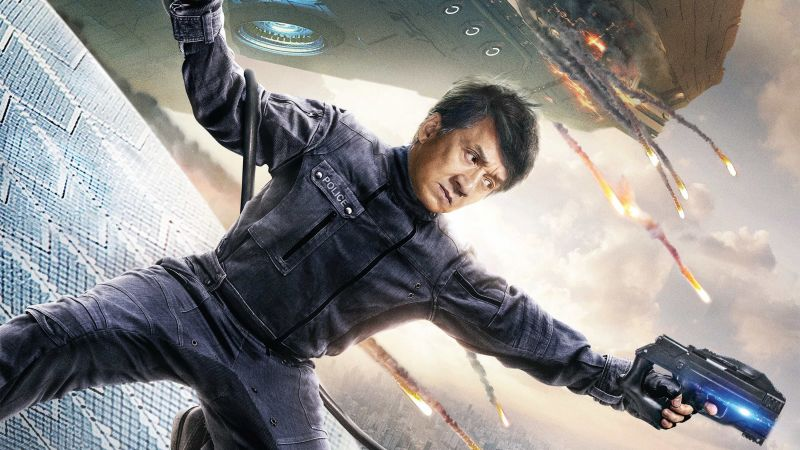 Bleeding Steel, Jackie Chan, poster, 4K (horizontal)