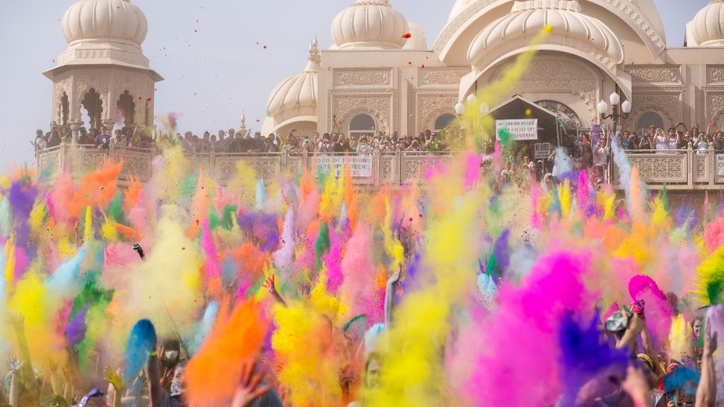 Holi Festival Of Colours, Indian holiday, spring, life, new moon, Holika, colored powder, event (horizontal)