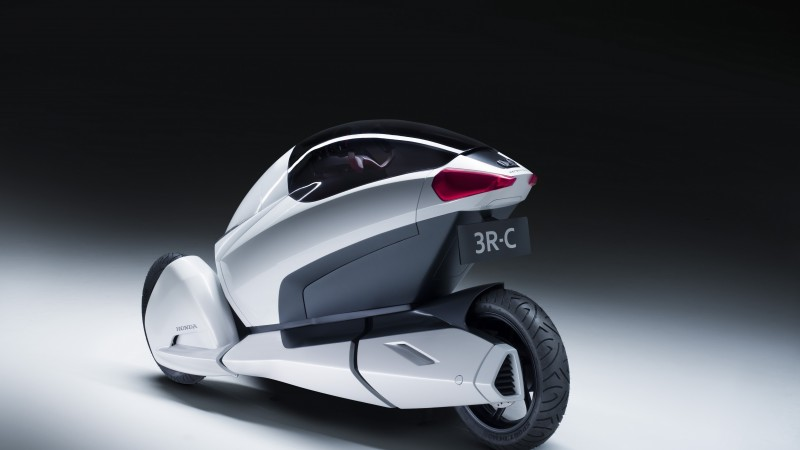 Honda 3R-C, concept, Honda, three-wheeled, electric cars, vehicle, bike, back